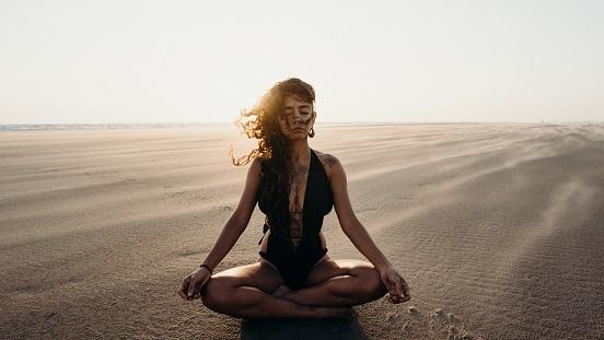Meditación flor de loto